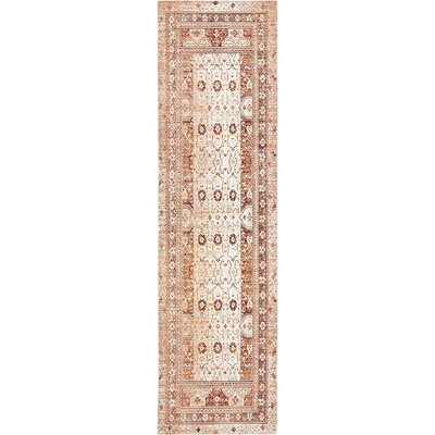 Center Beige Area Rug Rug Size: Runner 27 x 910