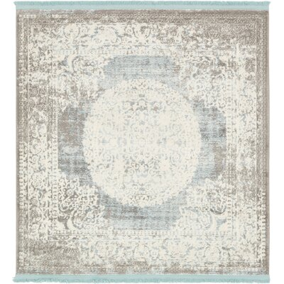 Twila Gray Area Rug Rug Size: Square 4