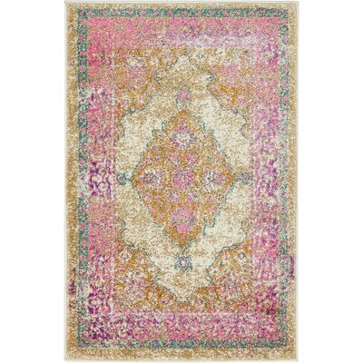 Charlena Beige Area Rug Rug Size: Rectangle 2 x 3