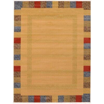 Jan Beige Color Bordered Area Rug Rug Size: 9 x 12