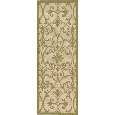 Kenner Light Green Outdoor Area Rug Rug Size: Rectangle 6 x 6