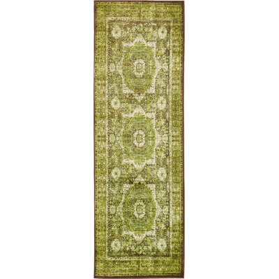 Hezekiah Green/Brown Area Rug Rug Size: Rectangle 13 x 198