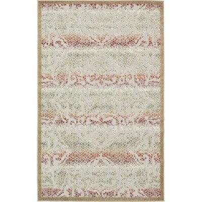 Lorenza Beige Indoor/Outdoor Area Rug Rug Size: Rectangle 5 x 8