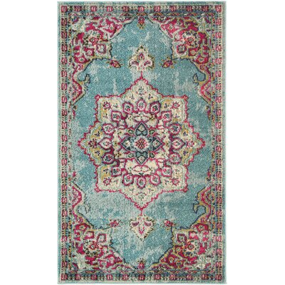 Fujii Blue Area Rug Rug Size: Rectangle 7 x 10
