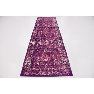 Yareli Lilac/Violet Area Rug Rug Size: Rectangle 2 x 6