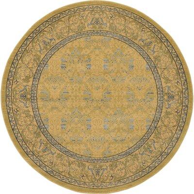 Fonciere Tan Area Rug Rug Size: Round 6