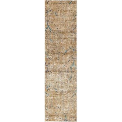 Essex Light Brown Area Rug Rug Size: Runner 27 x 10