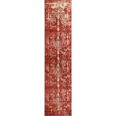 Vikram Red Area Rug Rug Size: Runner 3' x 13'