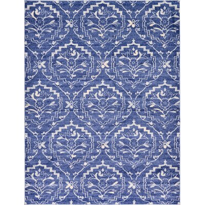 Ezequiel Blue Area Rug Rug Size: Rectangle 33 x 53