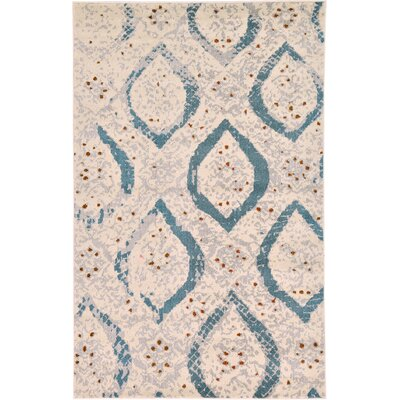 Charleena Cream Area Rug Rug Size: Rectangle 5 x 8