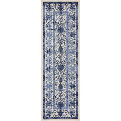 Chappel Blue Indoor/Outdoor Area Rug Rug Size: Runner 2 x 6