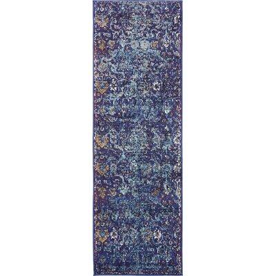 Koury Purple Area Rug Rug Size: Runner 22 x 67