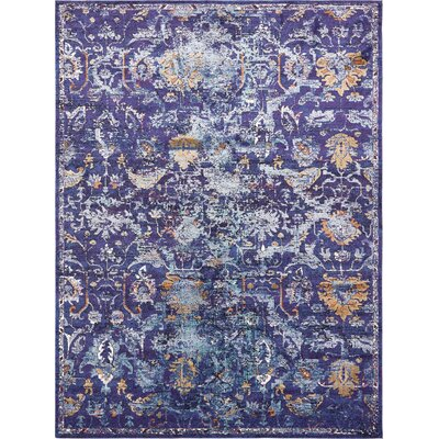 Koury Purple Area Rug Rug Size: Runner 22 x 67