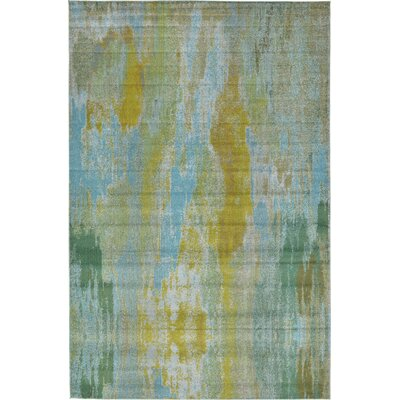 Killington Turquoise Area Rug Rug Size: 10'6