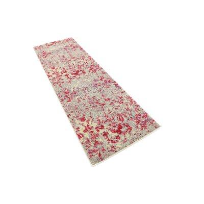 Fujii Beige/Pink Area Rug Rug Size: Runner 27 x 10