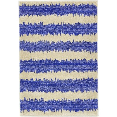Travis Blue/Beige Area Rug Rug Size: Rectangle 5 x 8