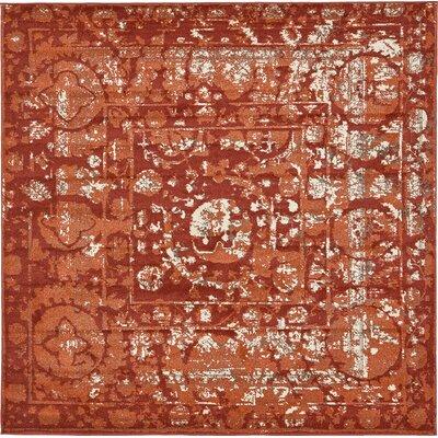 Kelaa Terracotta Area Rug Rug Size: Square 8'