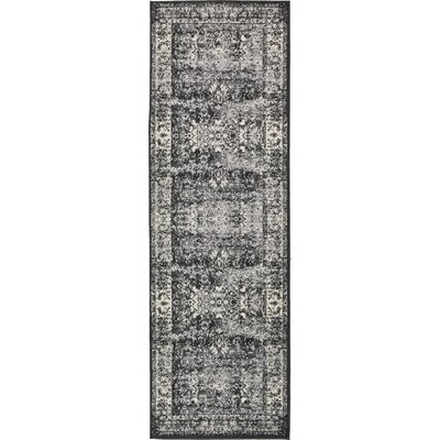 Neuilly Black Area Rug Rug Size: Runner 3 x 91