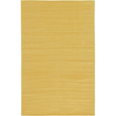 Risley Gold Area Rug Rug Size: 4 x 6