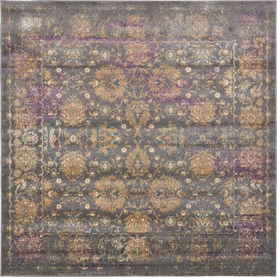 Sepe Gray Area Rug Rug Size: Square 8