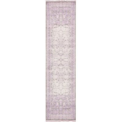 Sherrill Light Gray Oriental Area Rug Rug Size: Runner 27 x 10