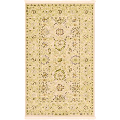 Willow Beige Area Rug Rug Size: 33 x 53