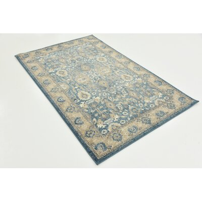 Basswood Light Blue Area Rug Rug Size: Rectangle 33 x 53