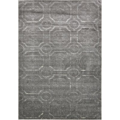 Essex Dark Gray Area Rug Rug Size: 7 x 10