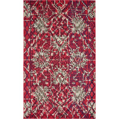 Shemar Red Area Rug Rug Size: Rectangle 5 x 8