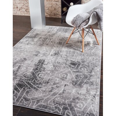 Brandt Dark Gray Area Rug Rug Size: Rectangle 8 x 11