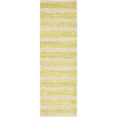 Travis Traditional Green/Beige Area Rug Rug Size: Runner 2 x 6