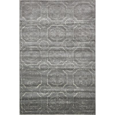 Essex Dark Gray Area Rug Rug Size: 6 x 9