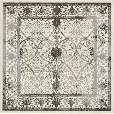 Shailene Ivory Area Rug Rug Size: Square 6
