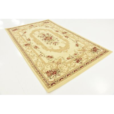Crainville Beige Area Rug Rug Size: 4 x 6