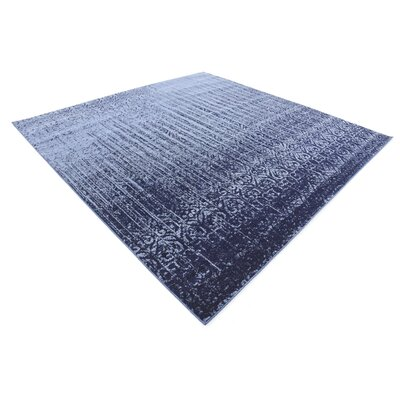Kadar Blue Area Rug Rug Size: Square 8