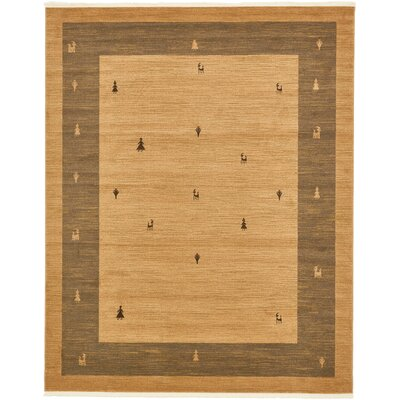 Jan Traditional Tan Area Rug Rug Size: Rectangle 5 x 8