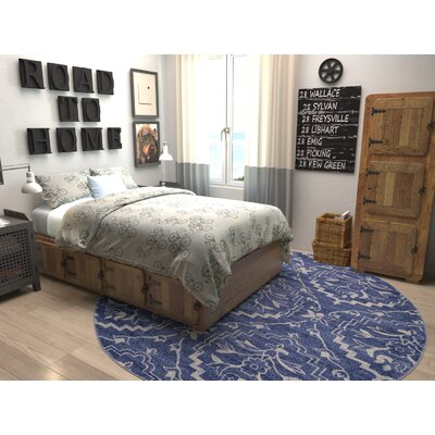 Ezequiel Blue Area Rug Rug Size: 33 x 53