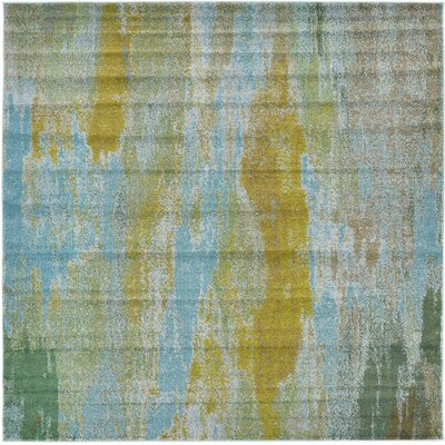 Killington Turquoise Area Rug Rug Size: Square 8'