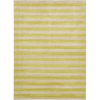 Travis Traditional Green/Beige Area Rug Rug Size: 8 x 11