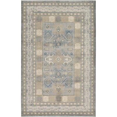 Jaiden Oriental Gray Area Rug Rug Size: 5 x 8