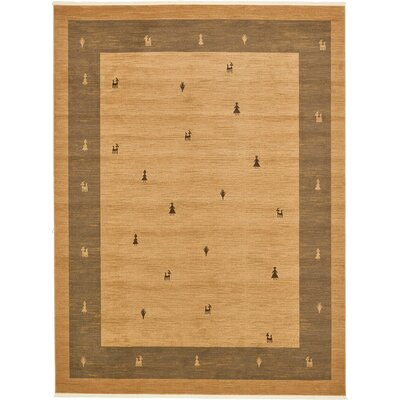 Jan Traditional Tan Area Rug Rug Size: 10 x 13