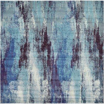 Fujii Blue Area Rug Rug Size: Square 8
