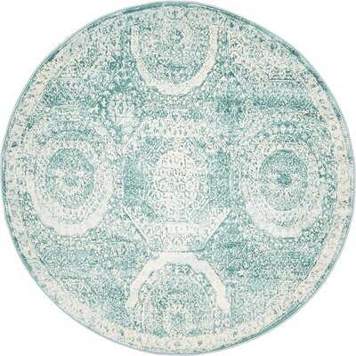 Sherrill Blue Area Rug Rug Size: Round 4