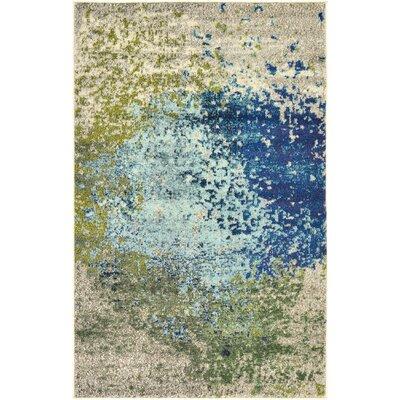 Roshan Blue Area Rug Rug Size: 33 x 53