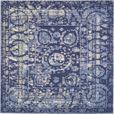 Kelaa Blue Area Rug Rug Size: Square 8