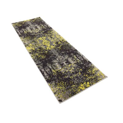 Fujii Gray/Yellow Area Rug Rug Size: Runner 27 x 10