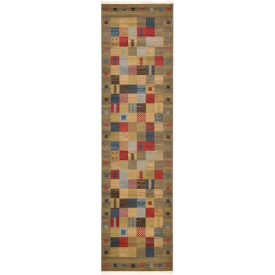 Jan Light Brown Geometric Area Rug Rug Size: Rectangle 3 x 10