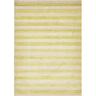 Travis Traditional Green/Beige Area Rug Rug Size: 7 x 10