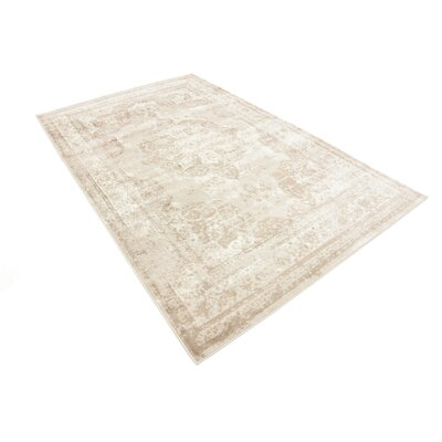 Brandt Beige Area Rug Rug Size: Rectangle 8 x 10