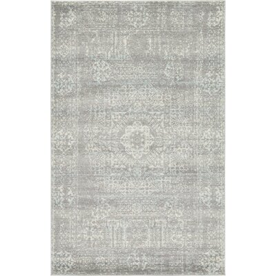 Aggie Creek Gray Area Rug Rug Size: 5 x 8
